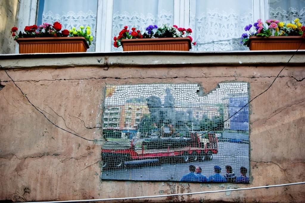 Мозаика на стене, Тбилиси
