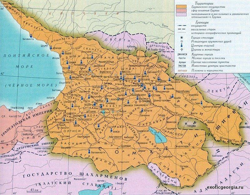 Старая карта грузии 18 век