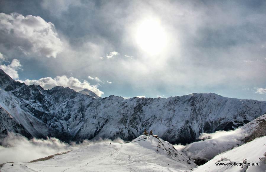 Грузия, Казбег зима