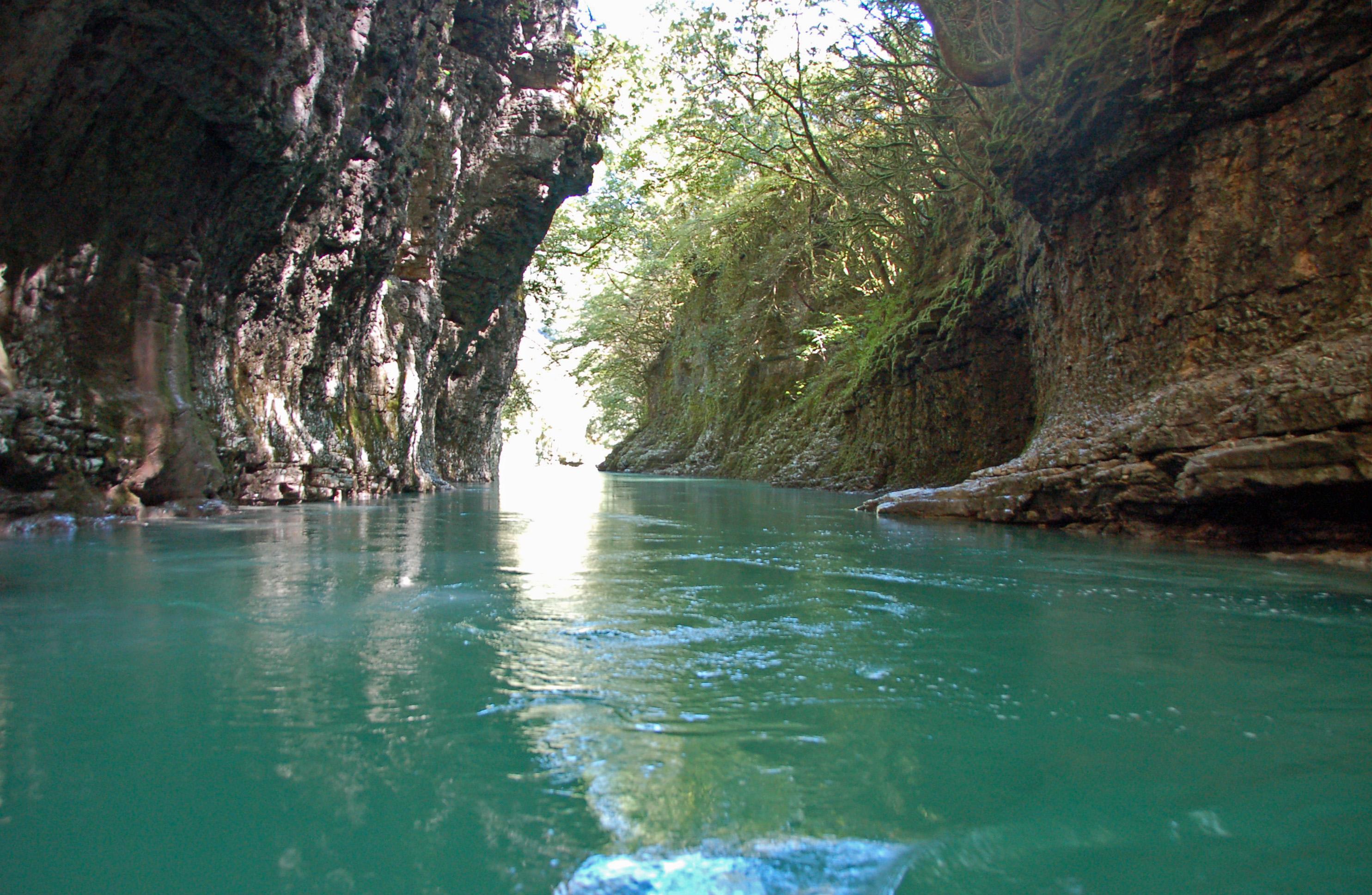 Каньон и водопады реки Абаша