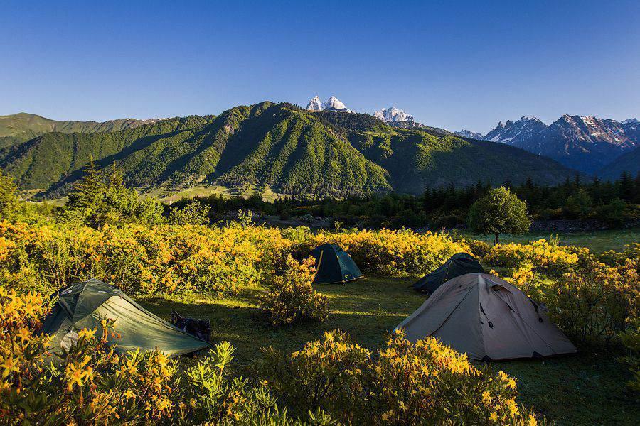 Отдых с палатками в Самегрелло