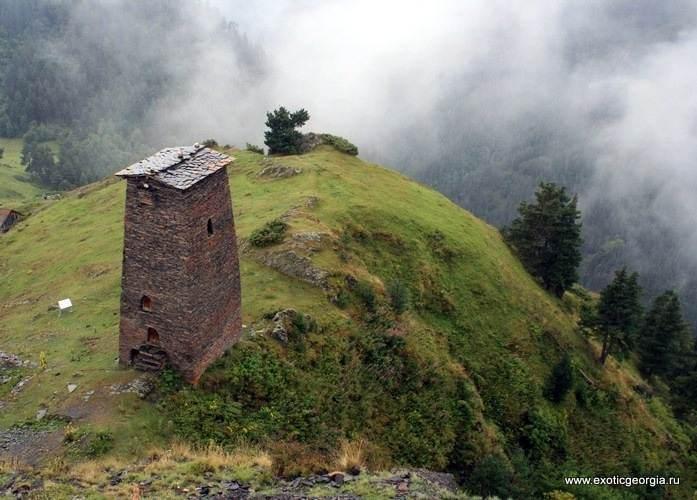 Тушетия, башня в Верхнем Омало