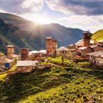 Вид на деревушку Адиши Грузия