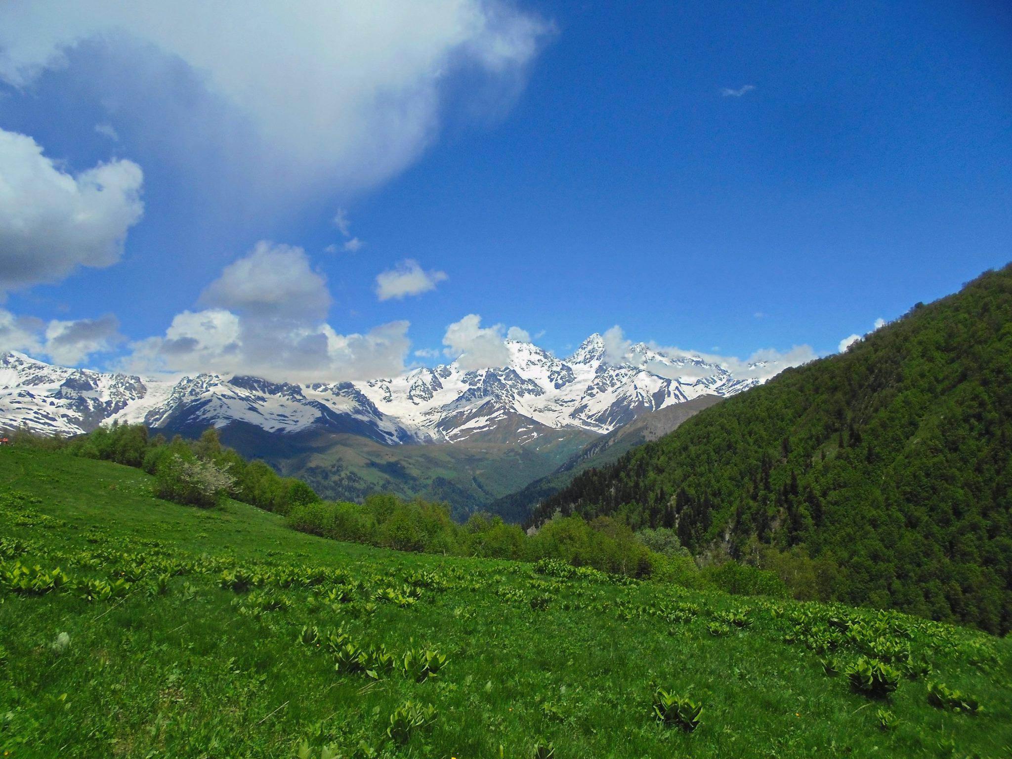 горы фото грузии