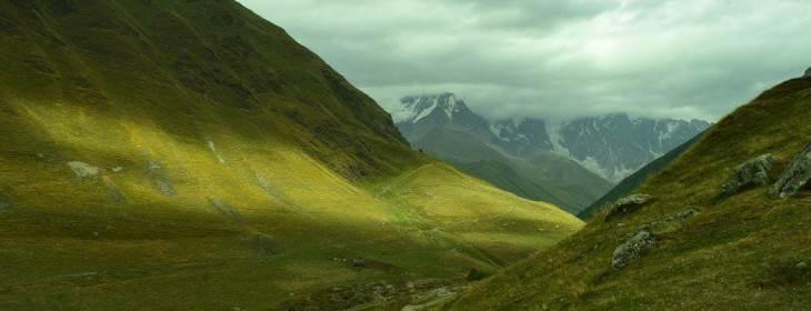 Ушгули в Грузия, горы