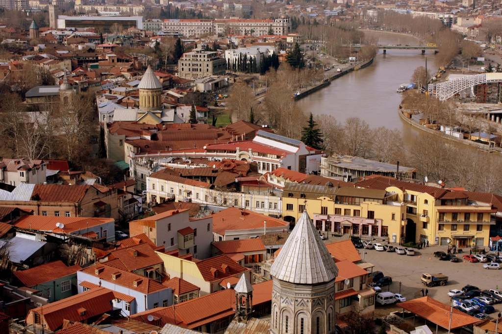 Фотография Тбилиси с высоты