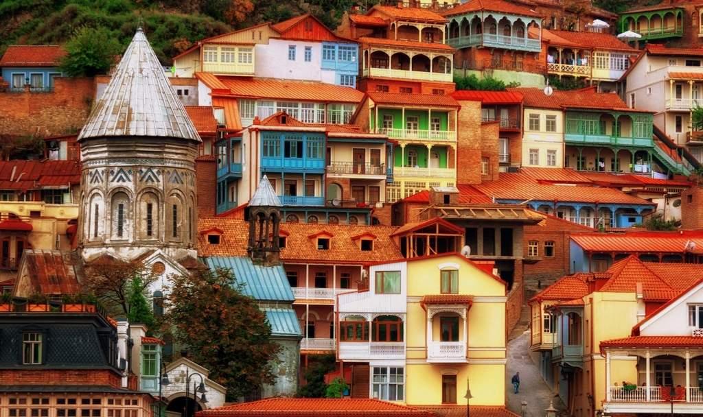 Симпатичные домики в Тбилиси