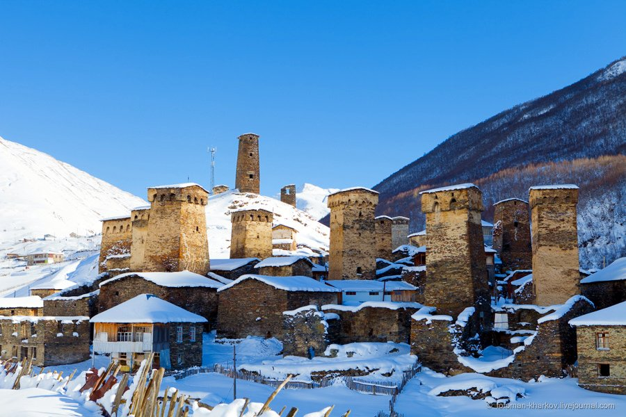 Зима в Грузии, Местиа