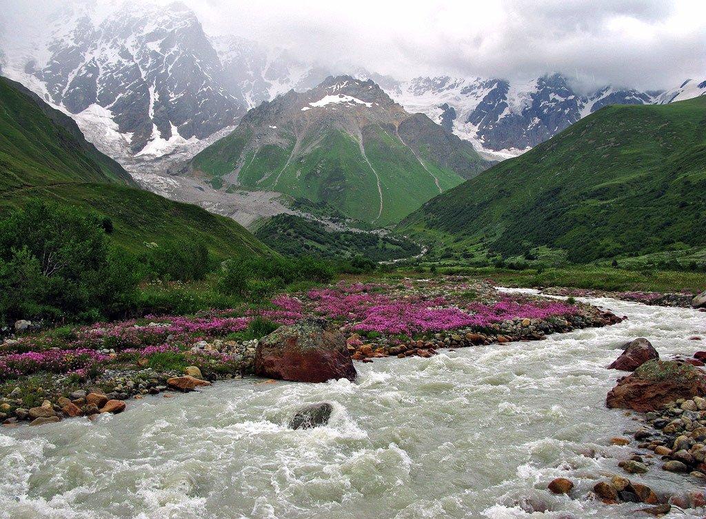 Истоки реки Энгури