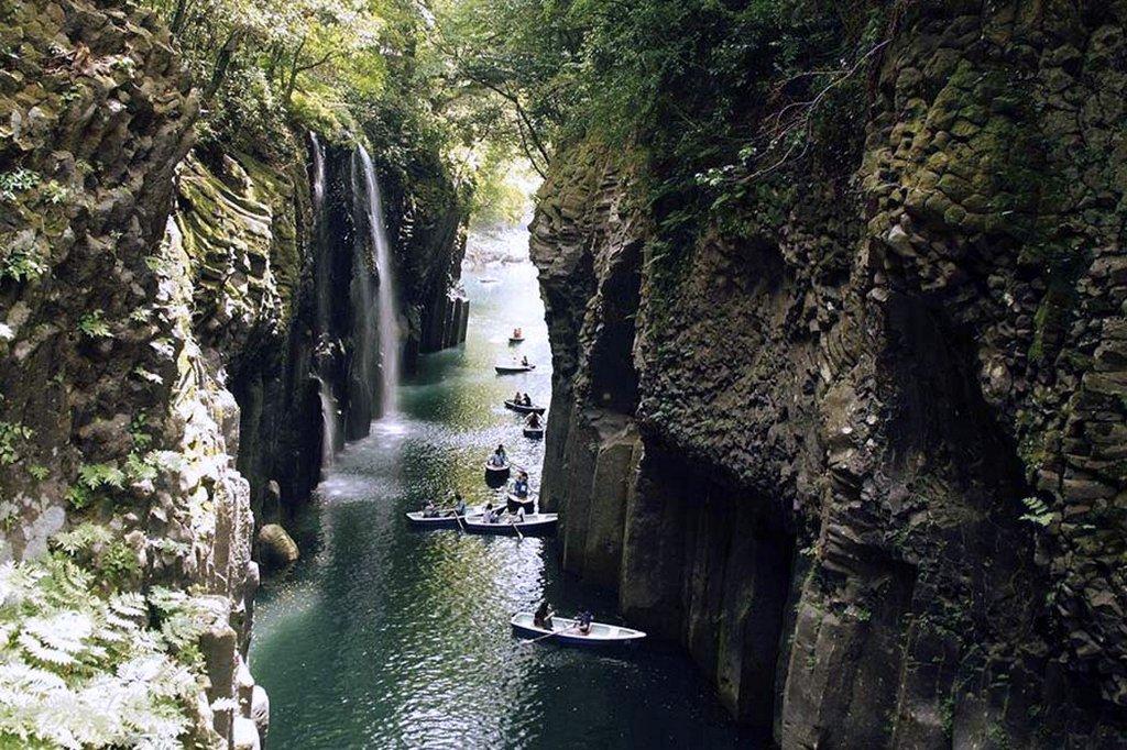 Нижний и верхний каньон реки Окацэ